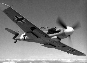 The BF109 was the main Luftwaffe fighter used in the Battle of Britain.  By themselves they were not a threat, unless the RAF responded to them.