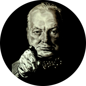 Image of Churchill pointing