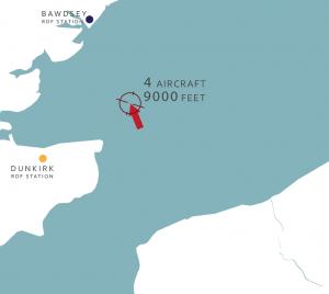 Image of raid arrow placed on map