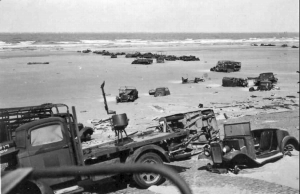Photo of equipment left on the beaches of Dunkirk