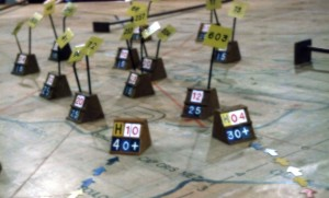 An image of an Op Room table showing raid markers