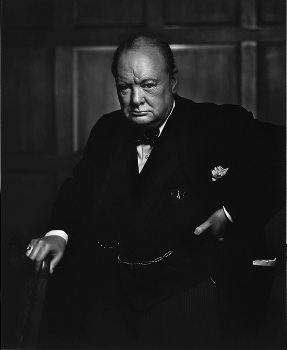 A photo of Sir Winston Churchill