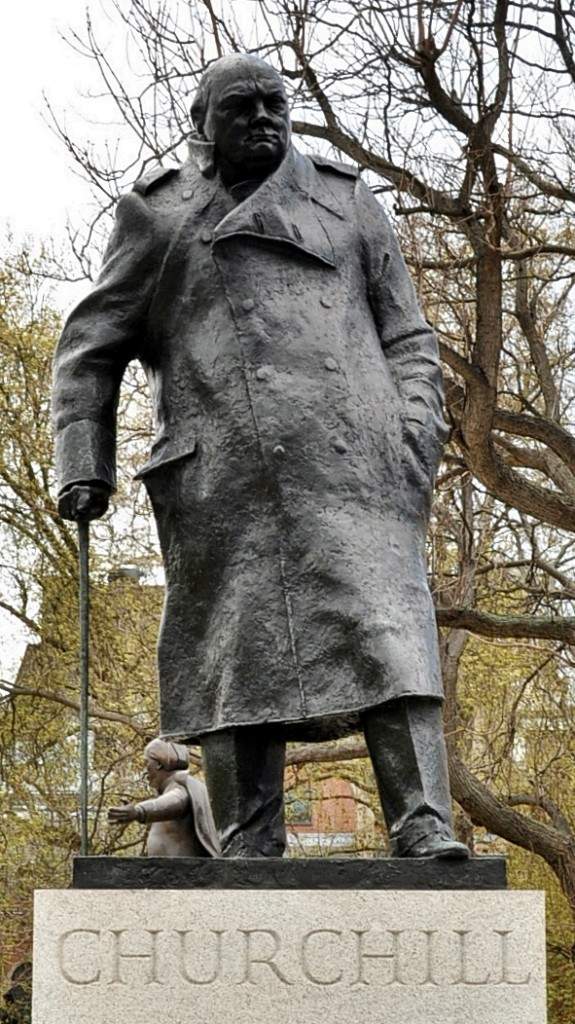Statue of Churchill in Parliament Square